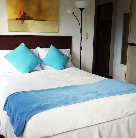 Room with private Bathroom , 100 mgs wifi