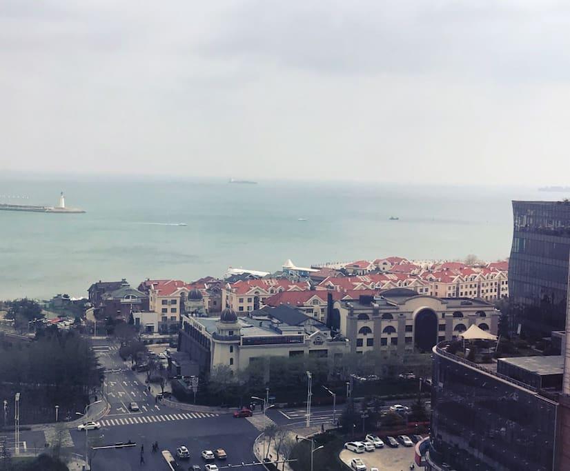 阳台看海实拍