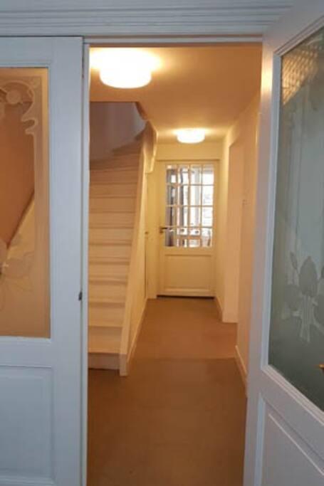 Hallway to studio