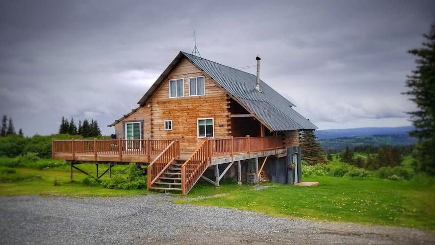 Country Log Home with Alpine veiw