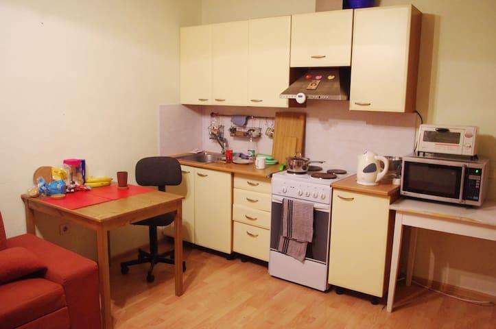 Studio with espresso machine 30 min from center - Sankt-Peterburg - Apartemen