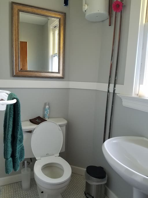 1/2 bath that comes with Artist loft and Cozy Coit Private
