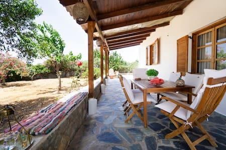 Manolios Villa with garden 450m. from Sea
