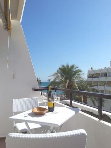 Enjoy relaxing on the main terrace.