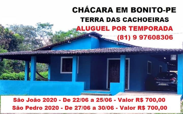 CHÁCARA - Bonito/PE - Terra das Cachoeiras