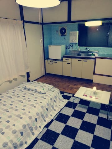 Private room with water sink.1 bed  10㎡