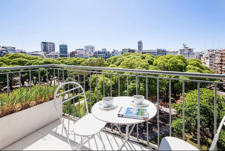 Sunny 2 BR at Recoleta