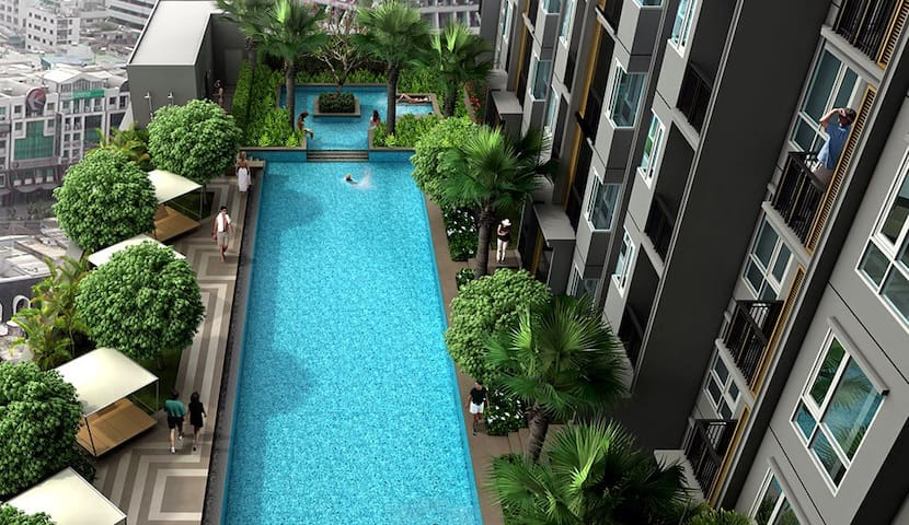 1 bedroom flat 50m from On Nut BTS - Bangkok - Daire