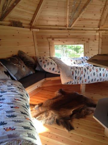 Four single beds