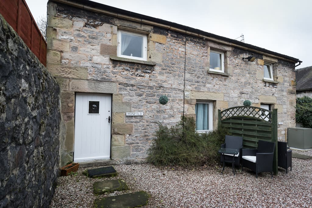 cottage is in a prviate and therefore quiet courtyard in the centre of village