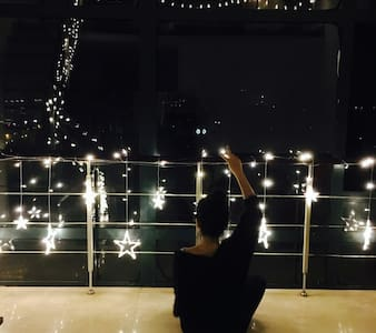 武汉天地/汉口江滩 浪漫主题落地江景loft星空小世界 - 武漢 - Apartment