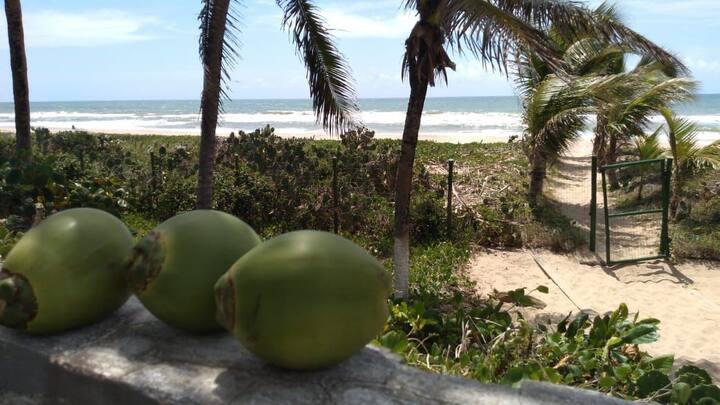 Casa pé na areia em Barra do Jacuipe