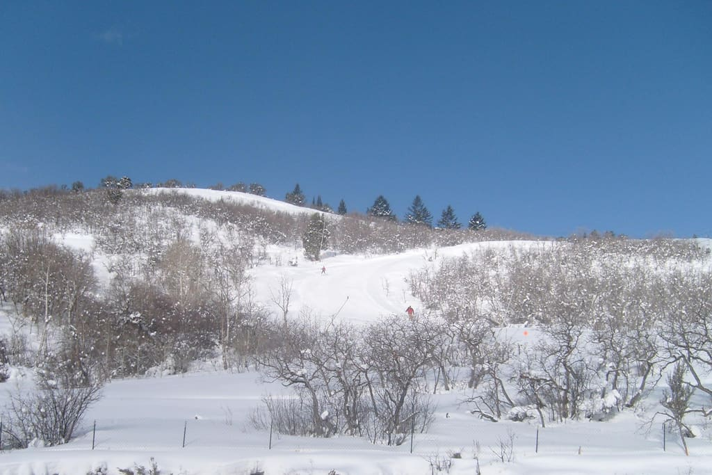 This is the Private Mountain View from our Unit