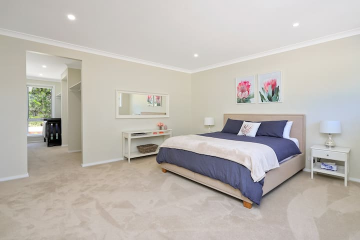 The Master Bedroom features a King size bed and a large Boori cot.