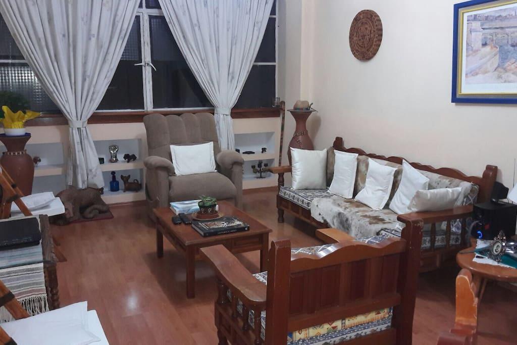 Acogedor lugar para descansar y sofá opcional para dormir