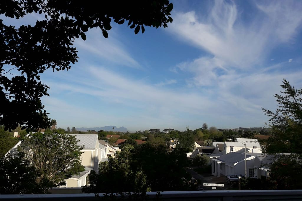 Yes, that would be table mountain easily visible on a clear day. Put the champagne on ice!