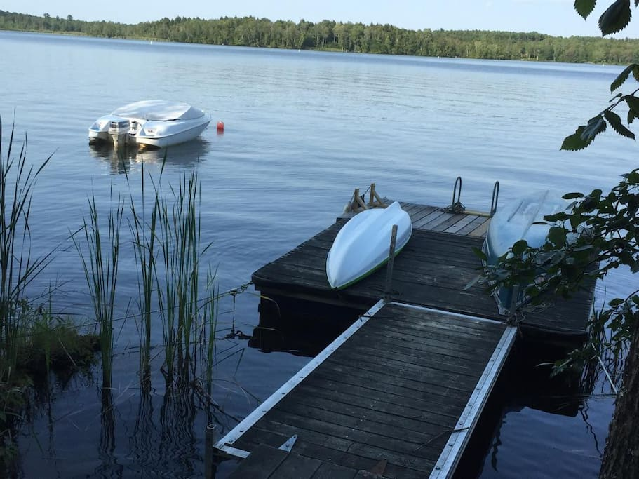 Our boat launch and dock