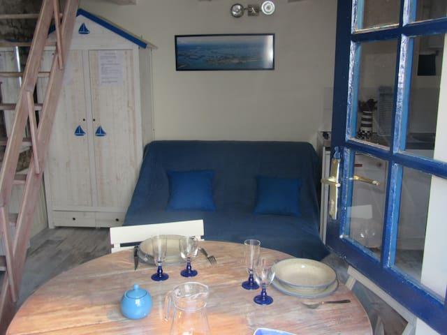 Maison de pêcheur atypique pour 2-3. 200m du golfe