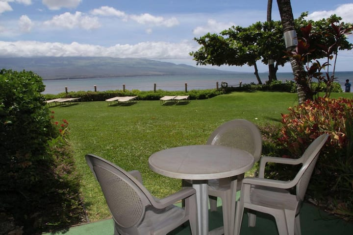 MAK-A3 - South Maui Beachfront Condo on Sandy Beach; Awesome Views; 2BR/2BA