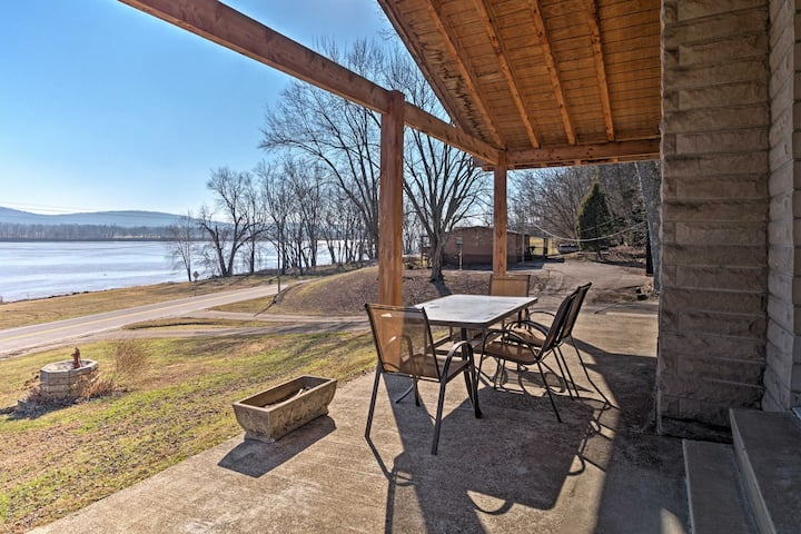 Riverfront Derby Home - Hot Tub & Patio!