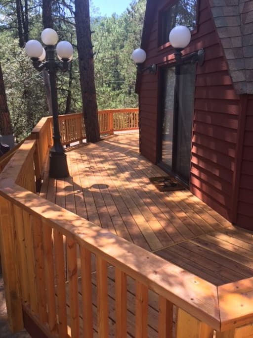 new decks with views of the west rim