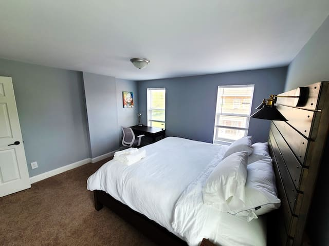 Master Bedroom with desk and workspace.