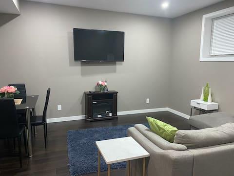 Cozy basement guest suite with private entrance