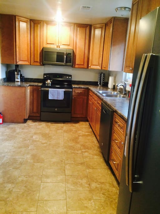 Our beautiful roomy kitchen with modern amenities.