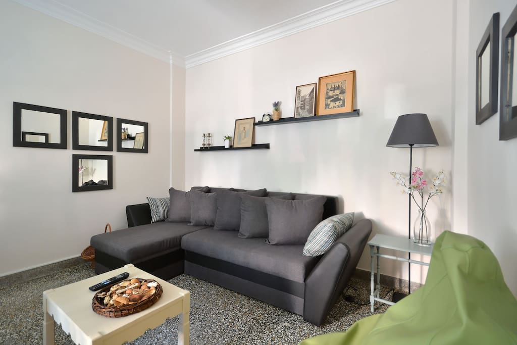 Double bed sofa in the living room
