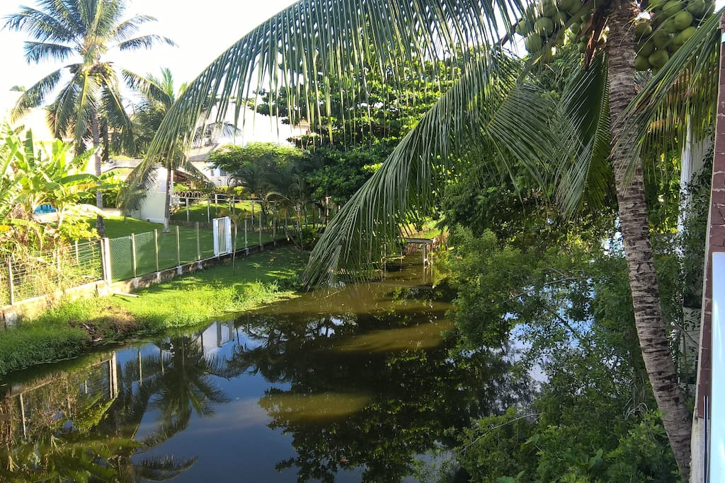 Rio Sapato, localizado ao fundo da casa.