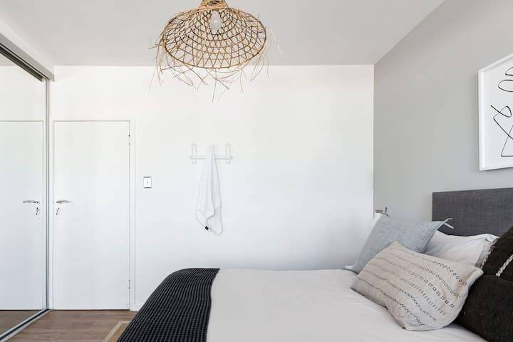 Master Bedroom with Built in cupboards
