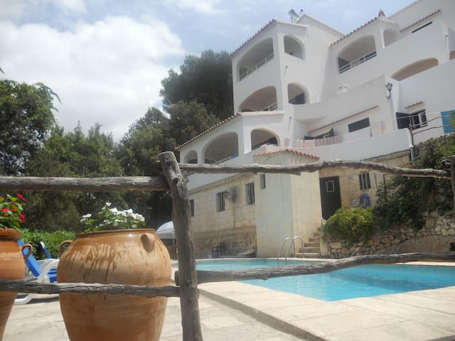 Apart. con piscina, a 50 m playa - Cala Galdana - Apartament