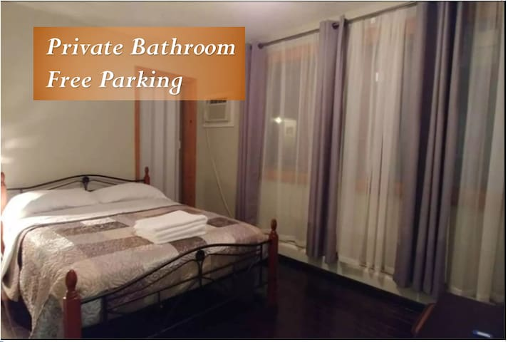 Room private bath. 5 Minutes 2 EWR Airport/ NYC.