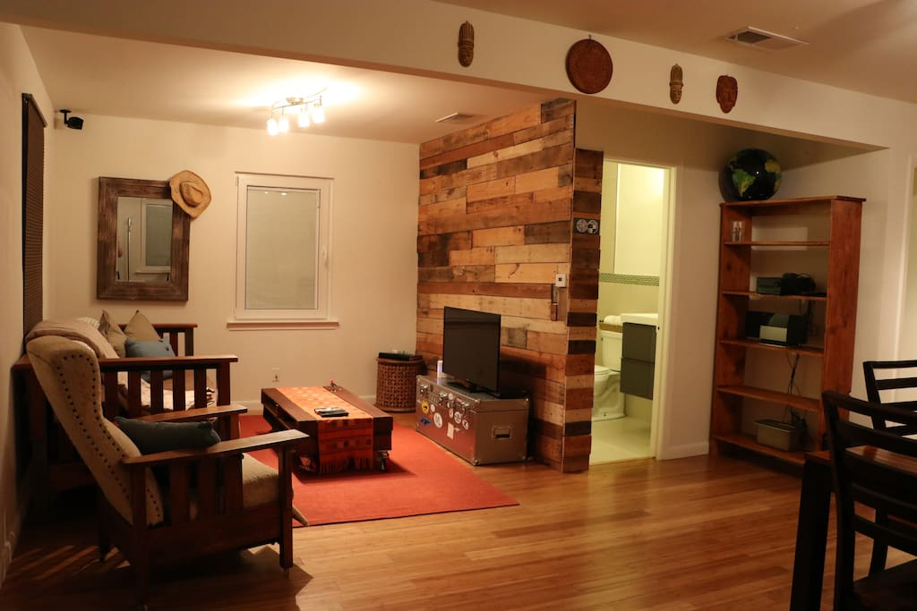 Great  living area lighting and cozy ammenities