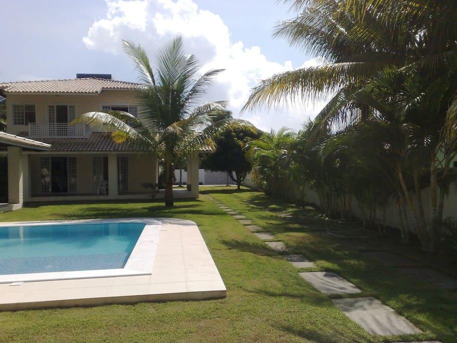Patio with Palm Trees - Jardim com Coqueiros nativos