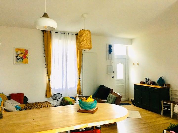 Lyon Maison 7 couchages avec jardin et cour isolée