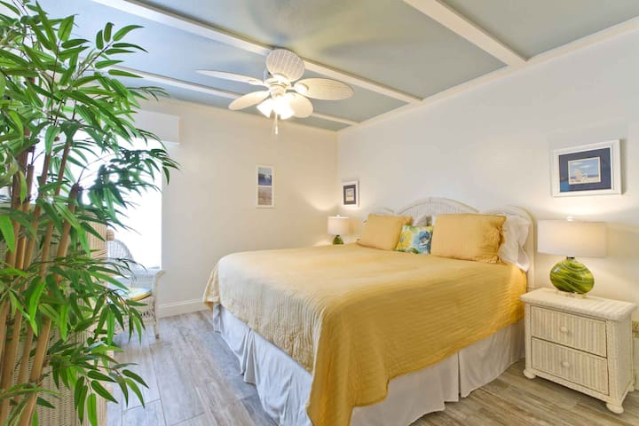 The second of three bedrooms also has a king-size bed.