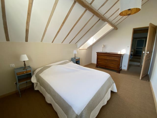 Bedroom 2 . Adults with double bed with air con.