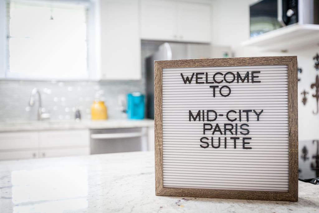 Welcome To Mid City Paris Suite