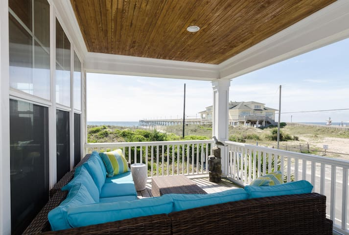 Home by the C - Amazing oceanfront duplex! - Wrightsville Beach