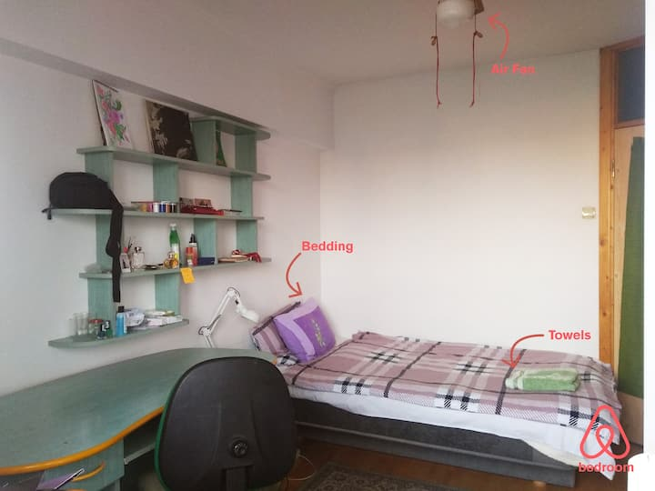 [green] Cosy&Bright Room in Bucharest Central