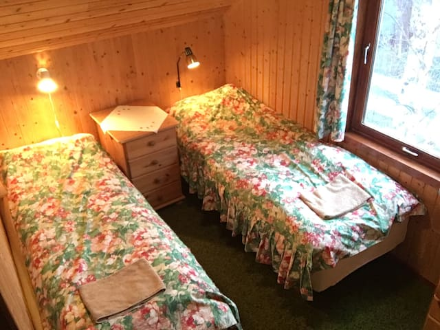 Room no 3, in 2nd floor: the beds can be moved together to make a double bed.