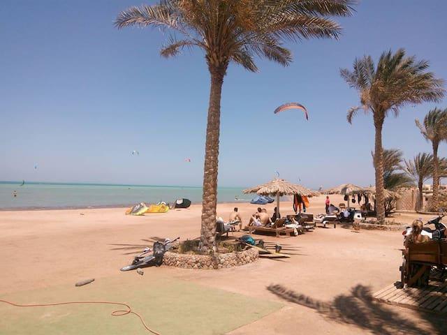 Kite spot & beach 500 m