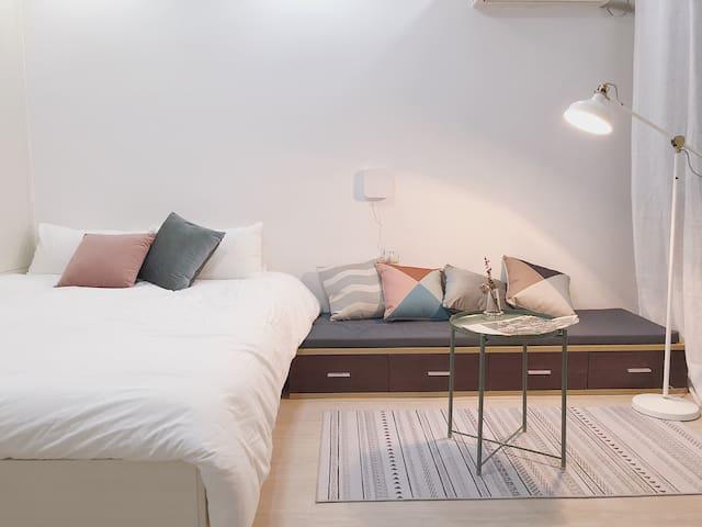 【大憩-晚安 Goodnight】/市中心 地铁口 三坊七巷 清新ins北欧风 高清影院 整套公寓