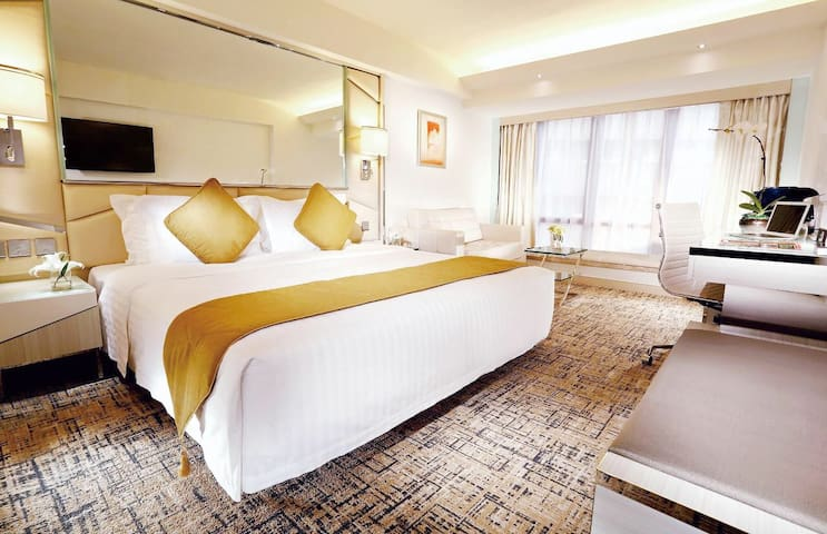 Luxury NYE Two Double Bed Room In Hongkong