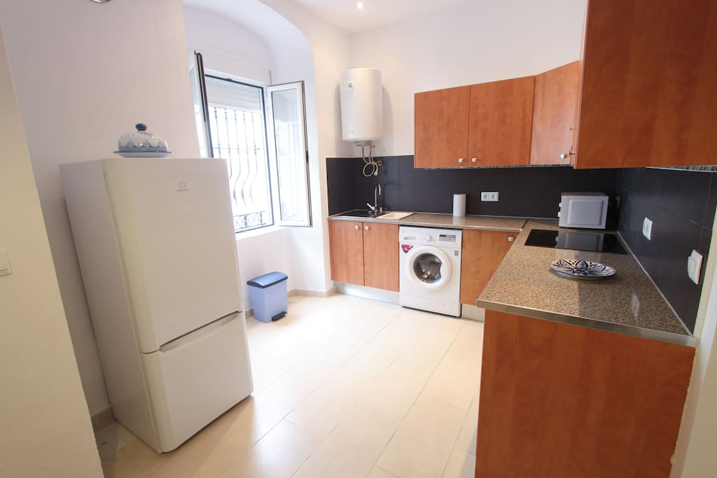 All modern conveniences, including fridge/freezer, washing machine, microwave and full hob and oven.