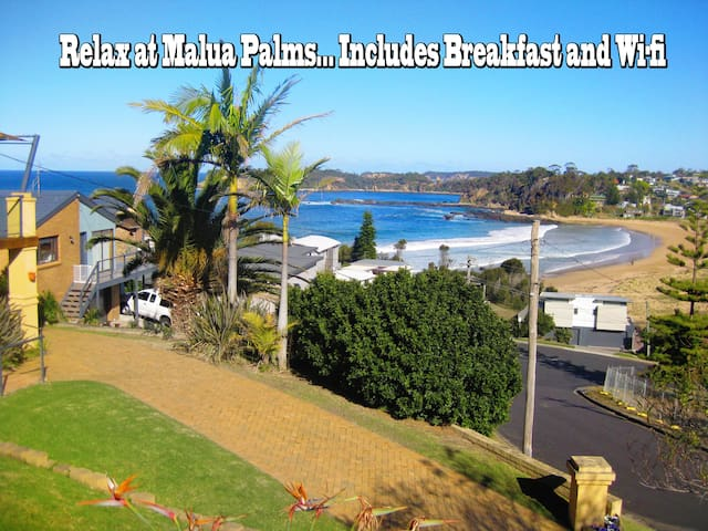 Ocean view paradise apartment 3 mins beach & surf!