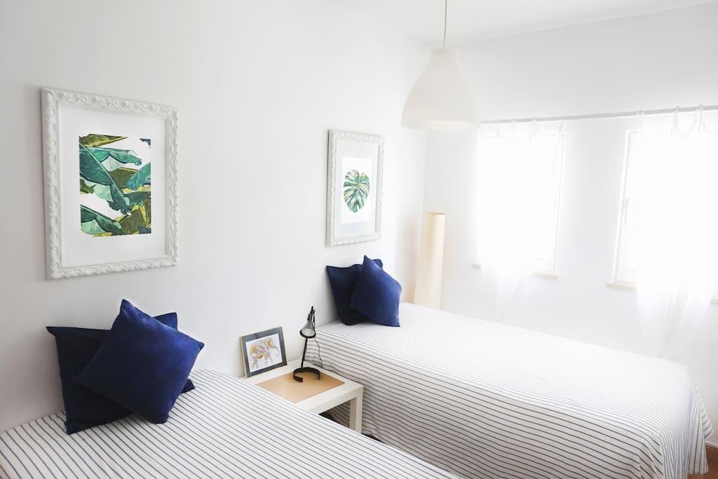 Enjoy the beautiful single beds room