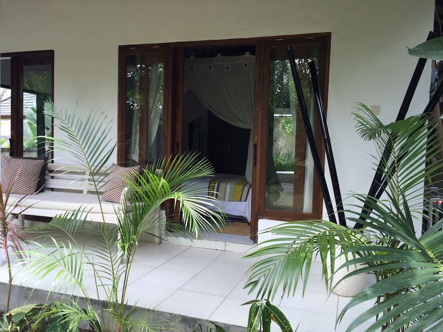 Front Terrace overlooking the Tropical Garden