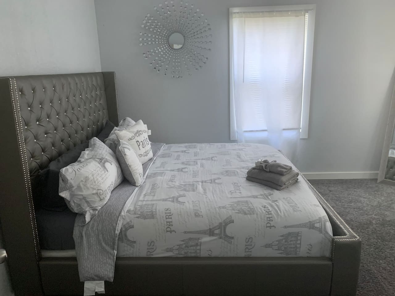 """ROOM #1 - KING BED - 65"""" FLATSCREEN SMART TV - 2 ADDITIONAL CHAIRS FOR EXTRA SEATING IN ROOM"""
